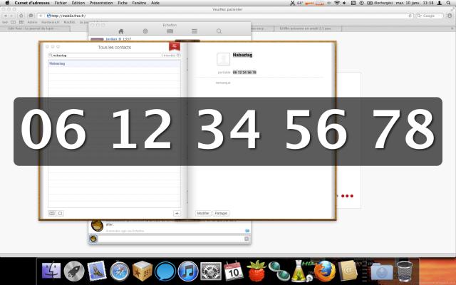 Mac os x et les gros caract res pour le t l phone le - 0177 numero telephone ...