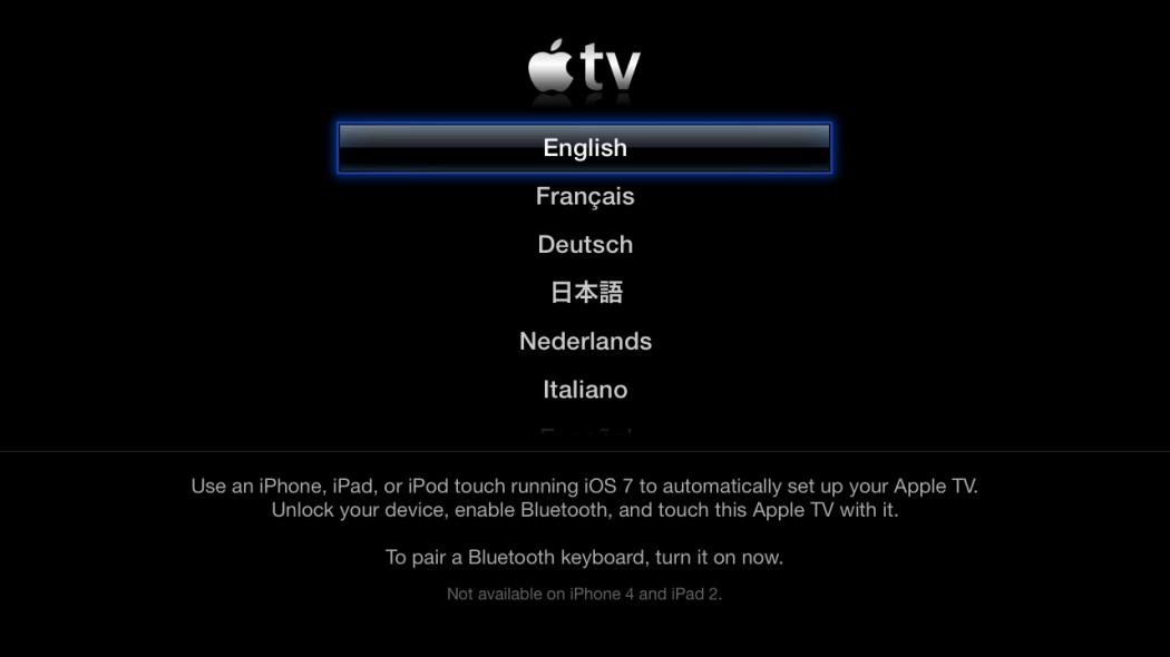 Sur l'Apple TV