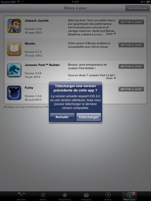 Sur un iPad