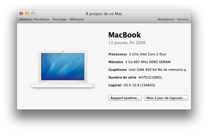 MacBook sous Mavericks