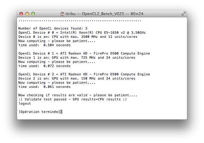 OpenCL Bench