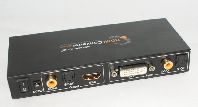 Entrée DVI, sortie HDMI