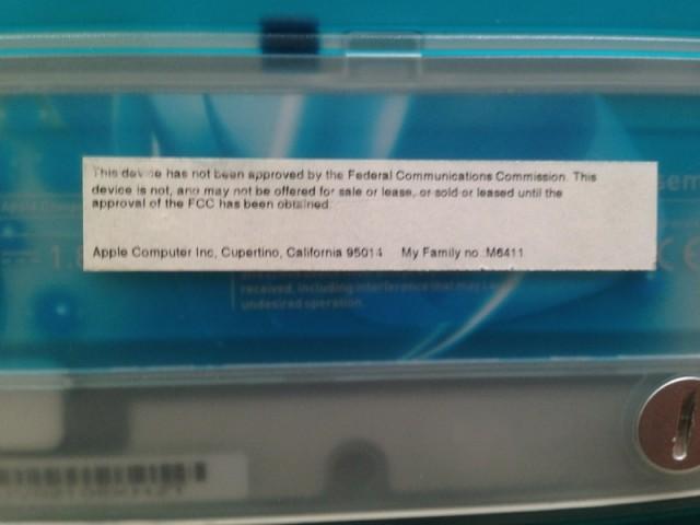 Pas approuvé par la FCC