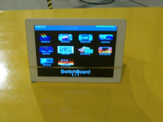 Un iPad sous l'OS de test