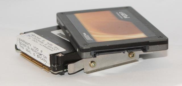 Disque SCSI des années '90 vs. SSD
