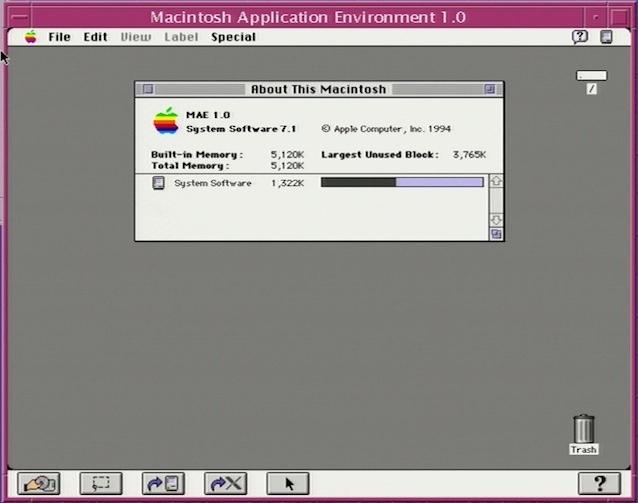 System 7.1, 5 Mo de RAM