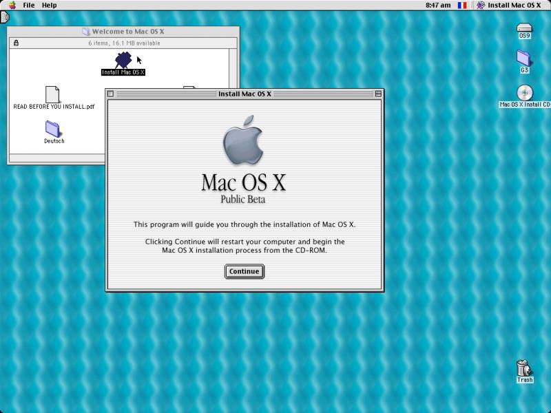Depuis Mac OS 9