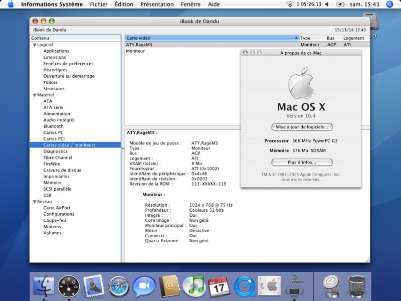 Tiger, XGA et iBook