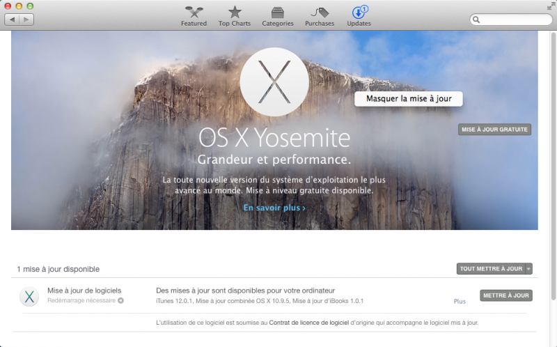 Mavericks et Yosemite