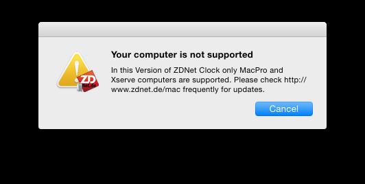 Sur un Mac non compatible