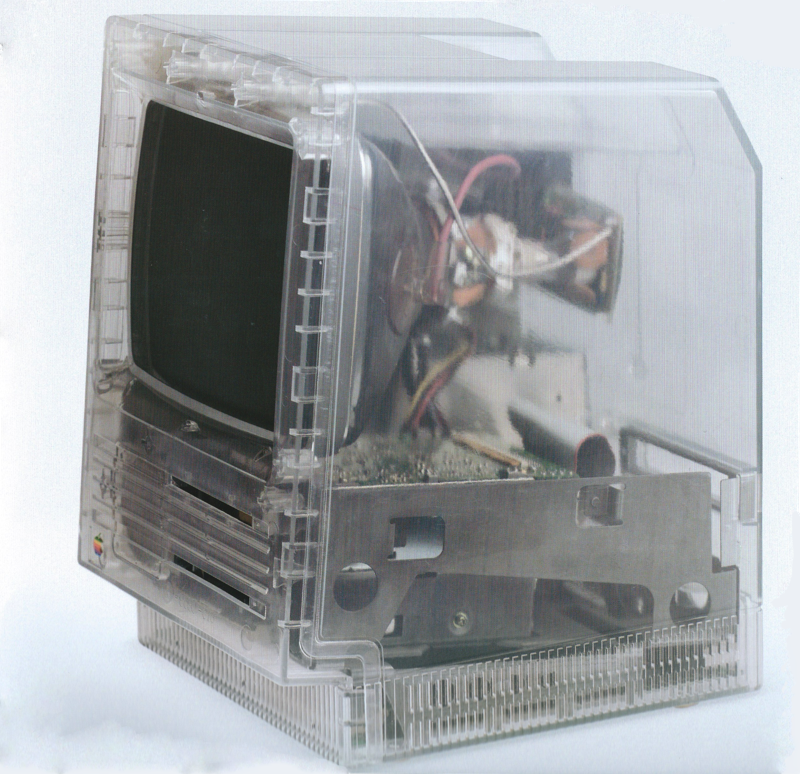Un Macintosh SE transparent