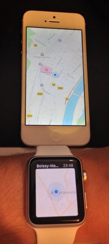 Un souci de position (sur l'iPhone)