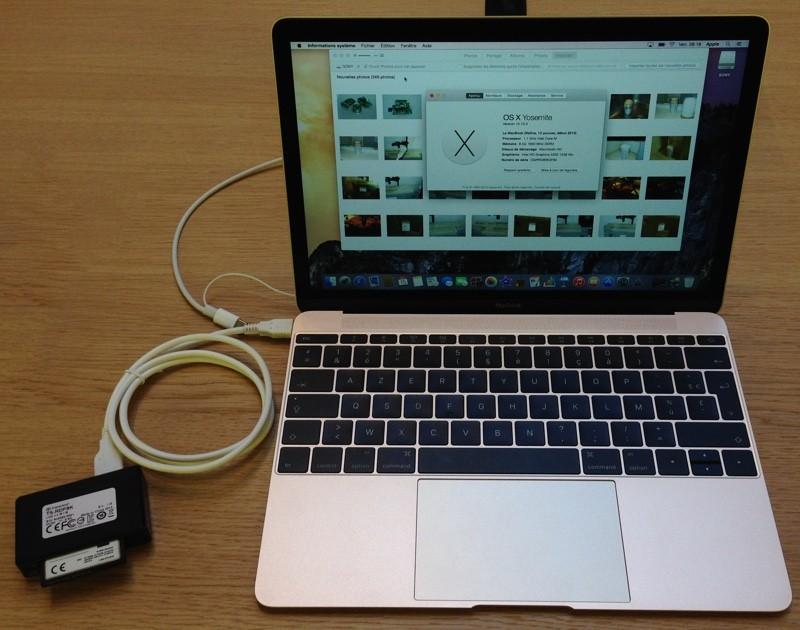 Mon câble sur un MacBook