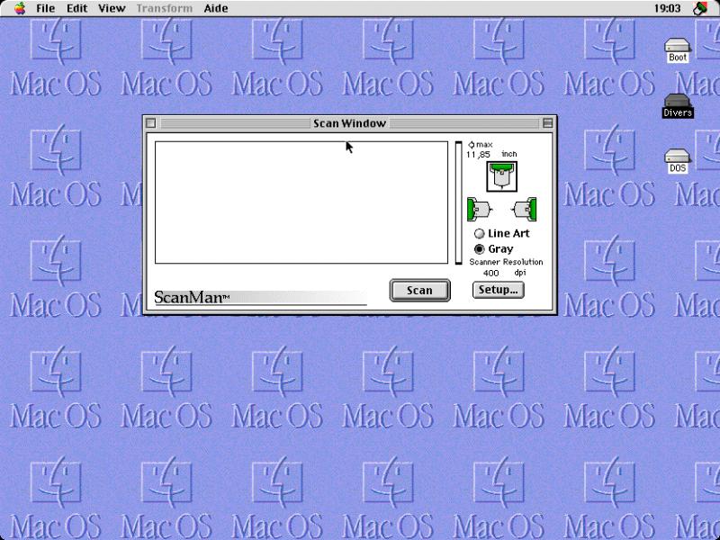 Le logiciel de scan