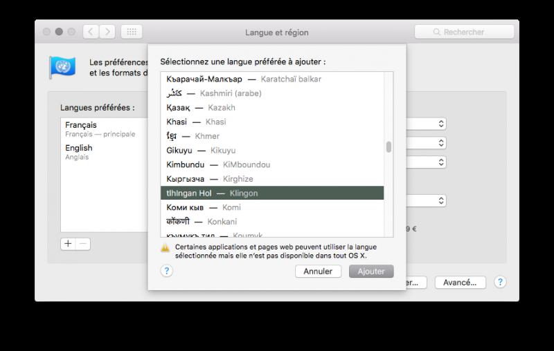 Sous Mac OS X