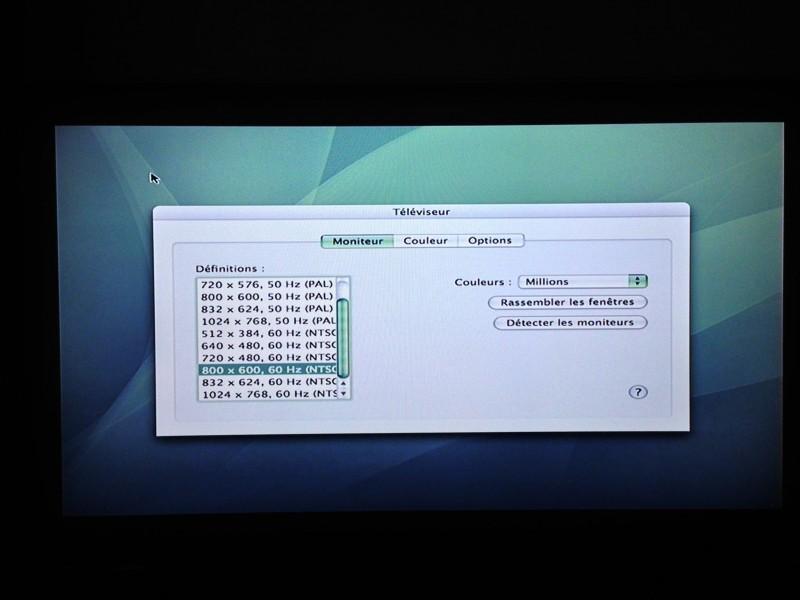 En NTSC, l'image est correcte (depuis un PowerBook G4)