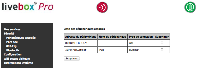 iPad connecté