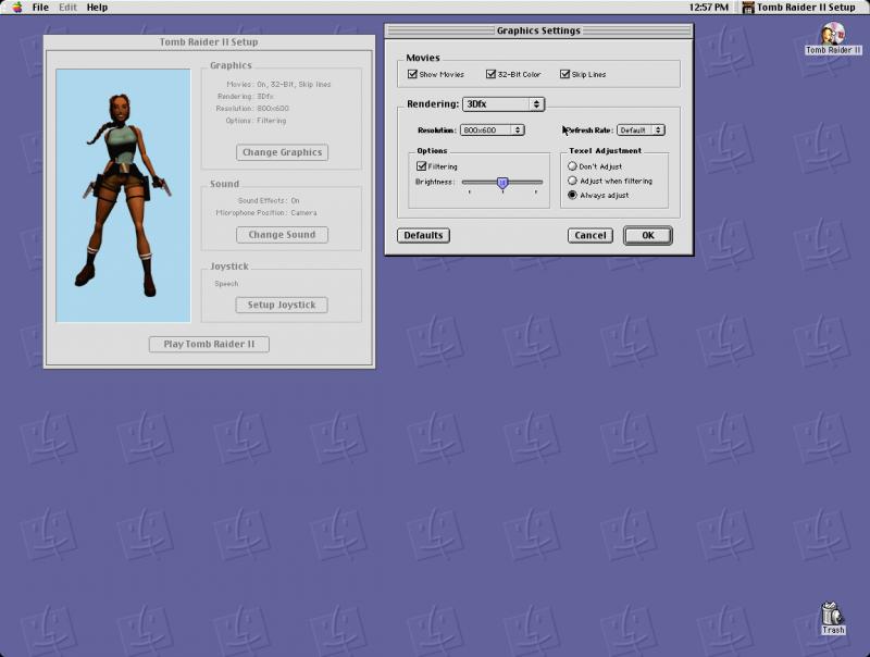 800 x 600 avec Tomb Raider 2