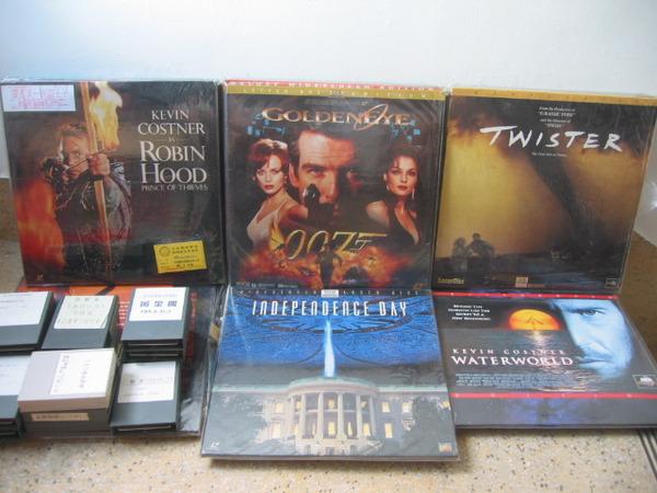 Des Laserdisc et des cartouches