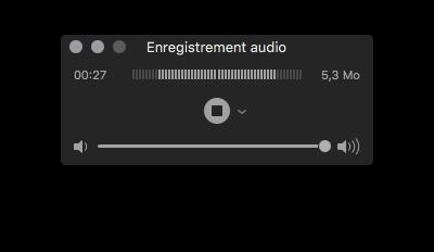 L'interface de QuickTime