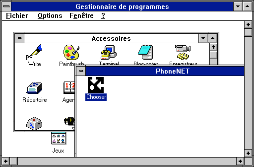 Chooser sous Windows