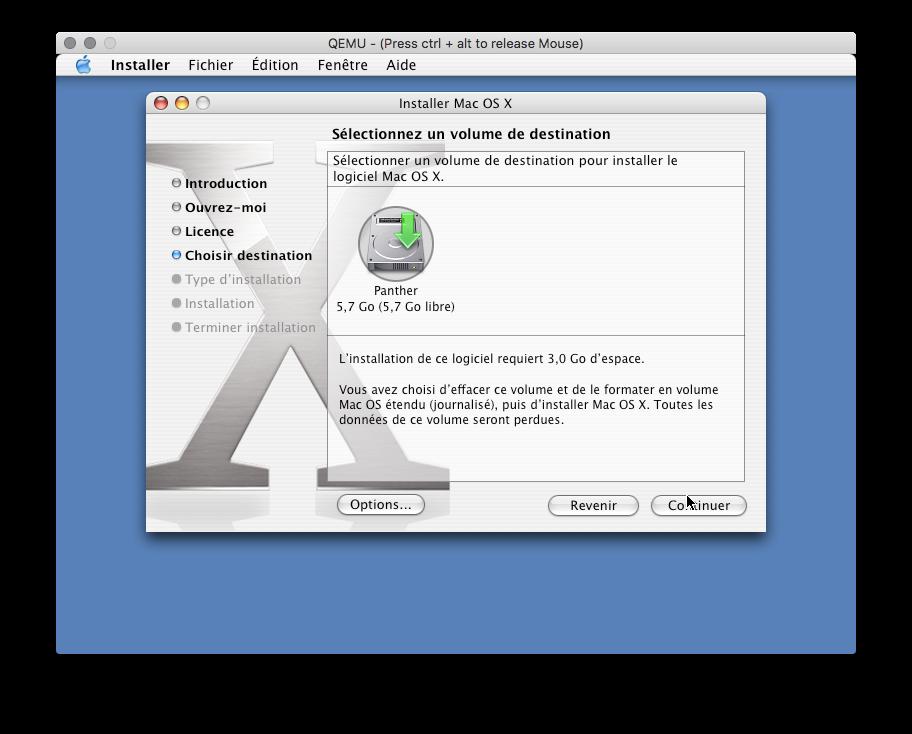 Installer Mac OS X PowerPC dans QEMU | Le journal du lapin