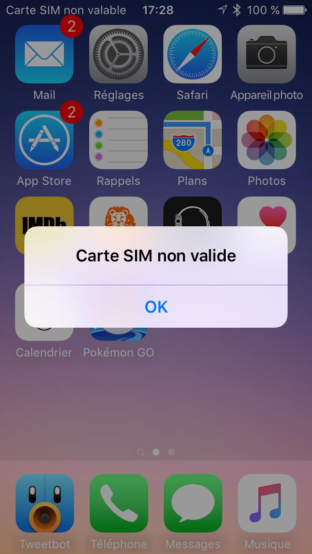 iphone carte sim non valide L'Apple SIM, une évolution vers l'intégration | Le journal du lapin