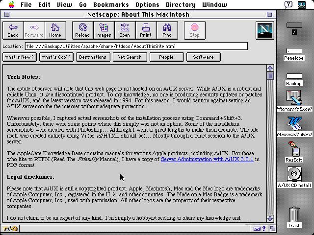 Netscape sous A/UX