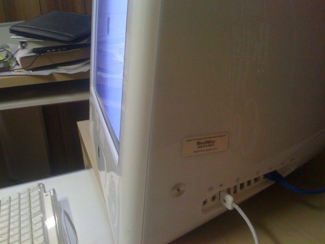 Sur un eMac