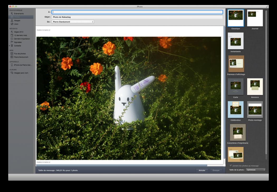 L'interface d'iPhoto