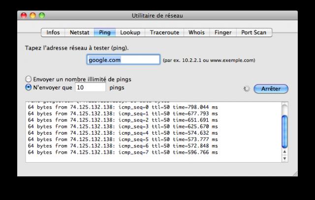 Ping moyen : 600 ms