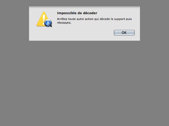Problème de décodeur