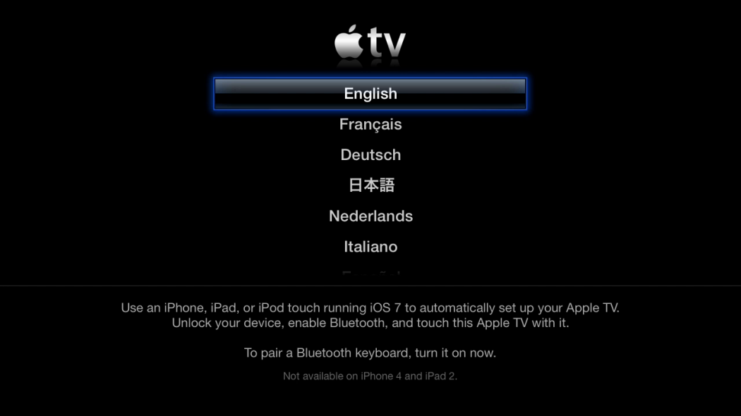 Sur l'Apple TV