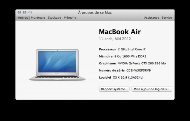 MacBook Air avec une grosse GeForce