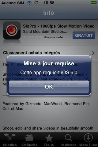 Sur un iPhone EDGE