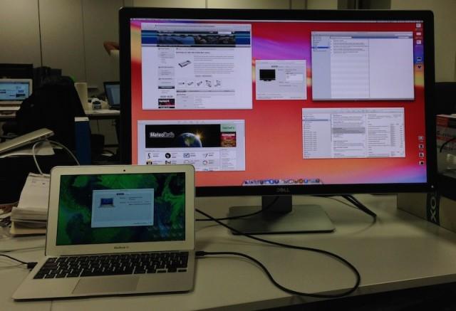MacBook Air 11 pouces et écran 32 pouces