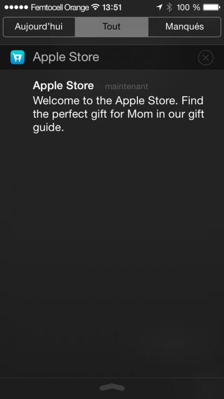 Une autre notification