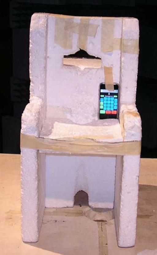 Un iPhone sous l'OS de test