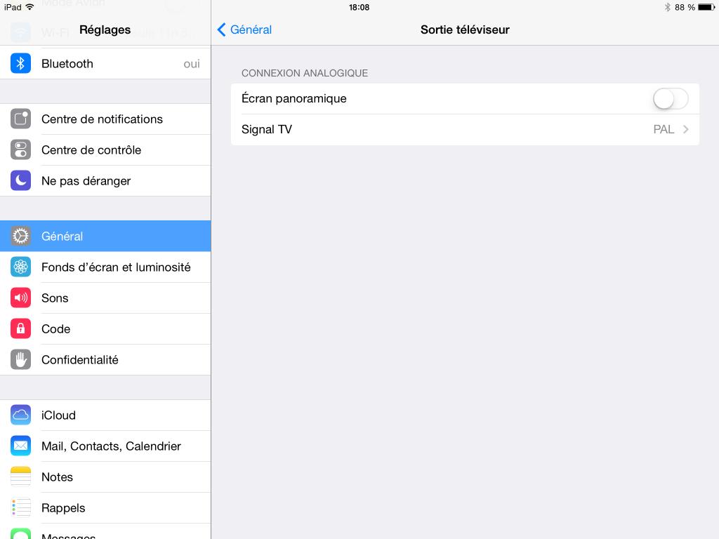 Sur iPad