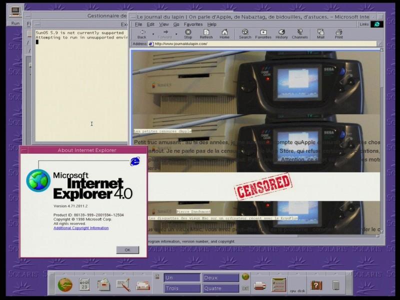 IE4 pour Unix