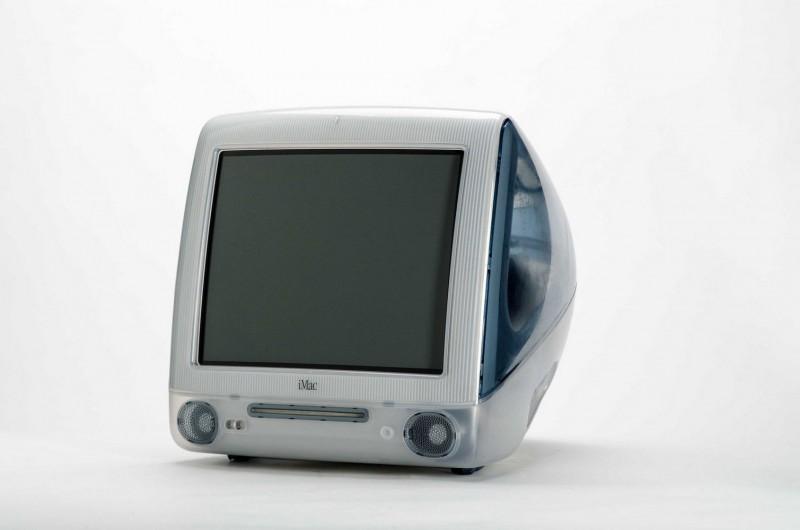 Un iMac G3 avec un écran en plastique