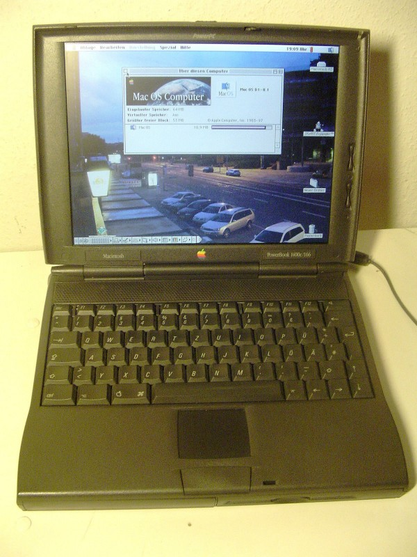 PowerBook 1400C clavier noir