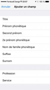 Sous iOS