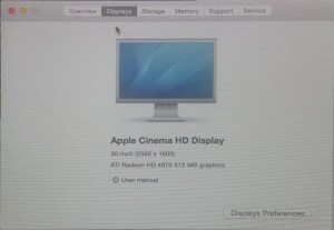 Reconnu comme un Cinema Display