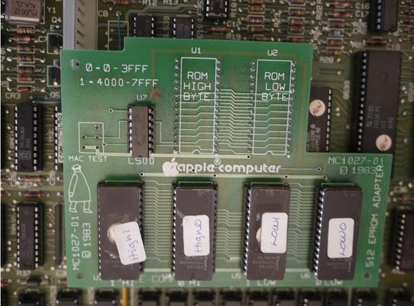 Sur le PCB du Macintosh Twiggy