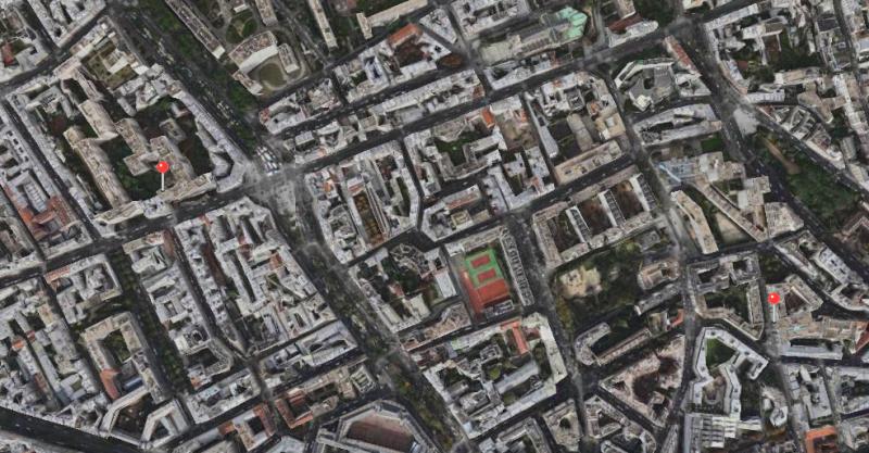 En ville : Firefox à gauche, la position correcte à droite
