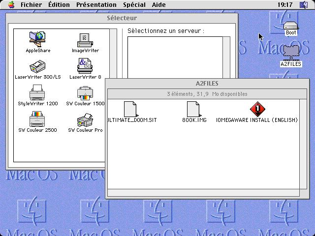 Sous Mac OS 8