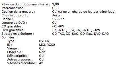 Pas de mention d'Apple avec ce DVD-R vierge