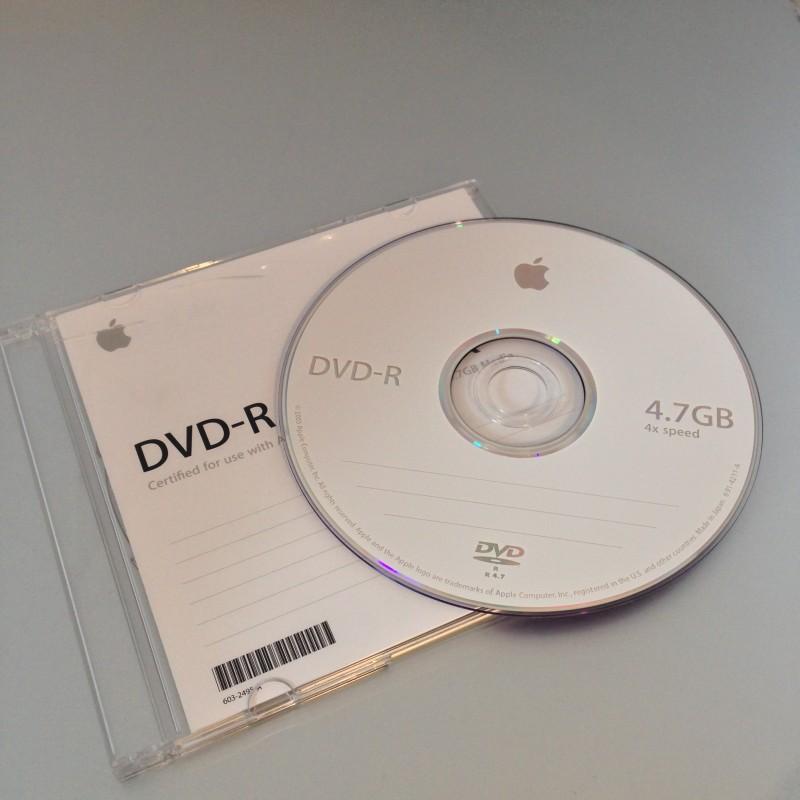 Un DVD-R 4x Apple
