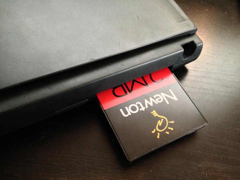 Le PCMCIA avec une carte de 2 Mo